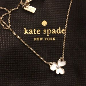 Kate Spade dainty flower necklace